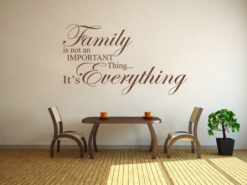The Yellow Wallpaper Important Quotes Family Is Everything Wall Art Quote Wall Sticker Modern
